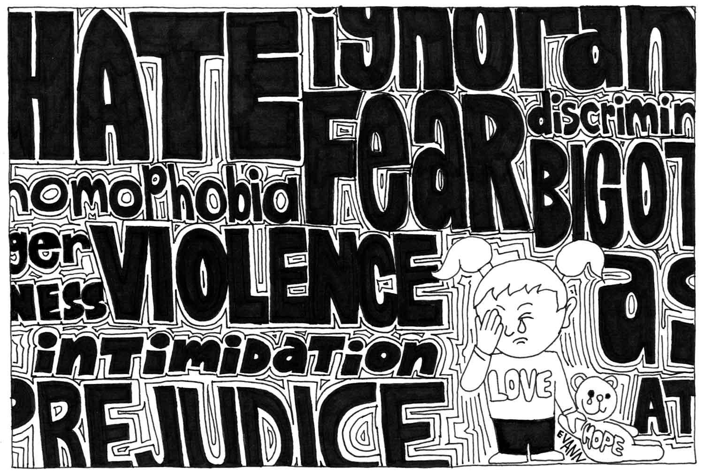 Editorial cartoon: Homophobia
