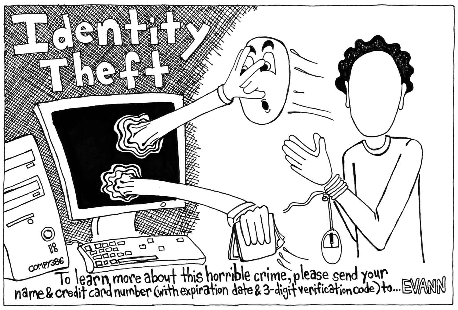 Editorial cartoon: Identity theft