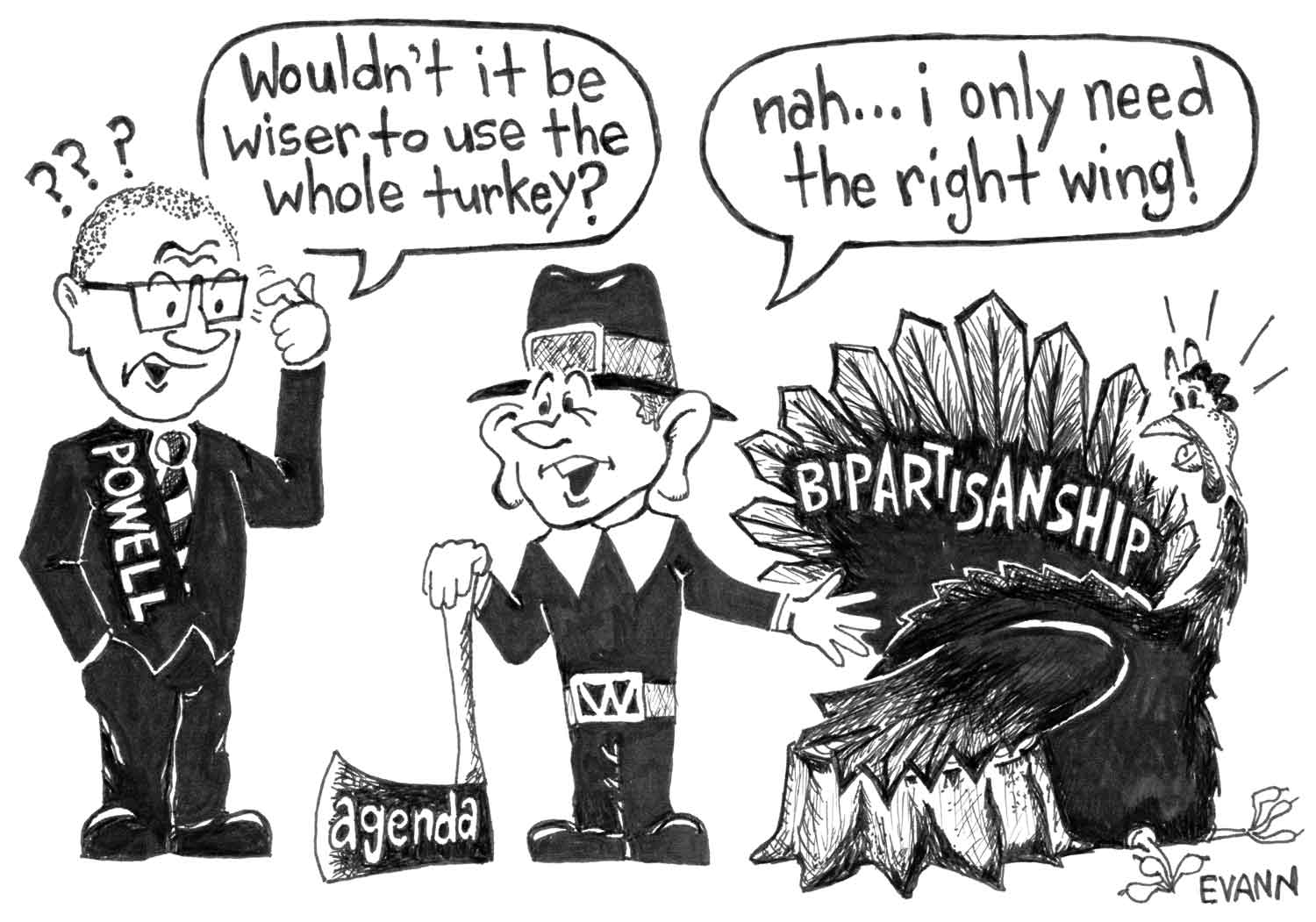 Editorial cartoon: Bipartisanship