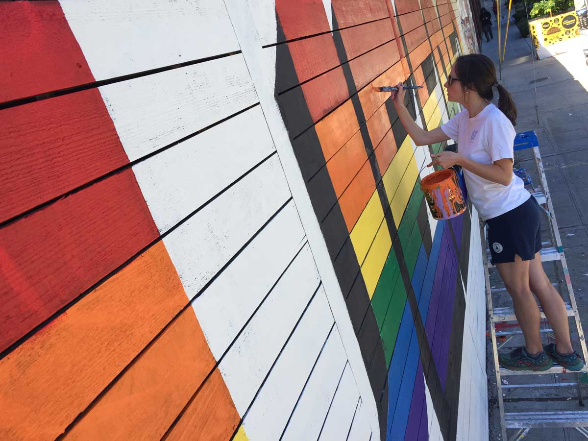 Keep Cap Hill Queered Mural process: Margaret painting